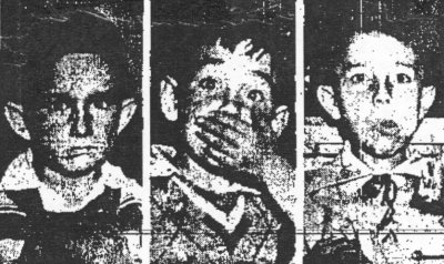 De gauche à droite: Carlos et Raúl Salinas, et Gustavo Rodolfo Zapata. Photo parue dans le journal EX¡xcelsior le 18 décembre 1951, en page 17.